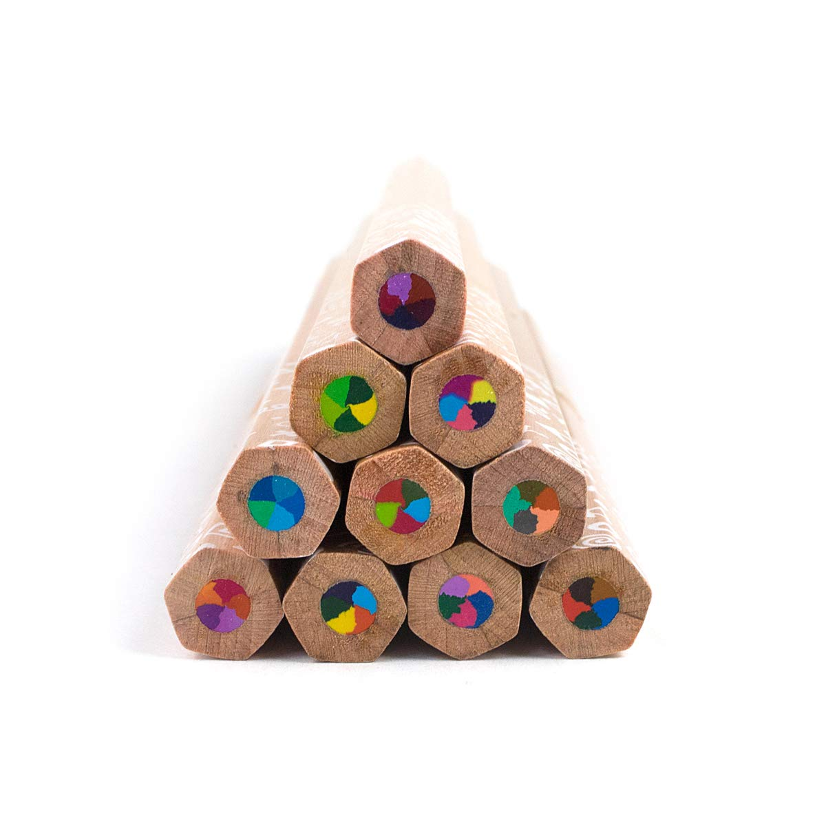 Kaleidoscope Multi Colored Pencils - Set of 10 by OOLY