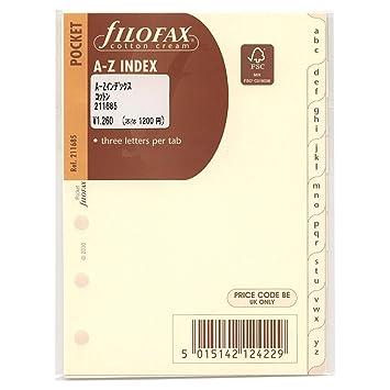 Filofax Pocket- Recambio para agenda de anillas, agenda ...