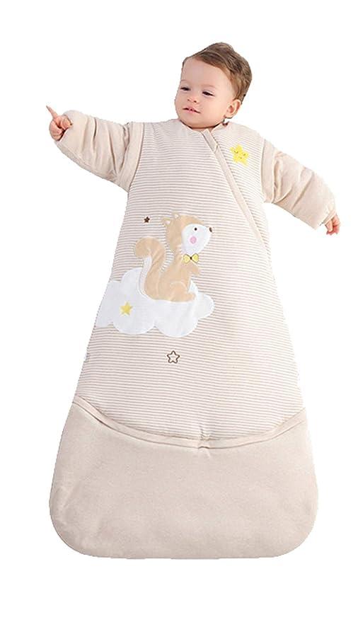 0e078acc5c BabyFat Sacos de Dormir Para Bebé Otoño Invierno Pijamas Multifuncional 3.5  Tog 0-2T
