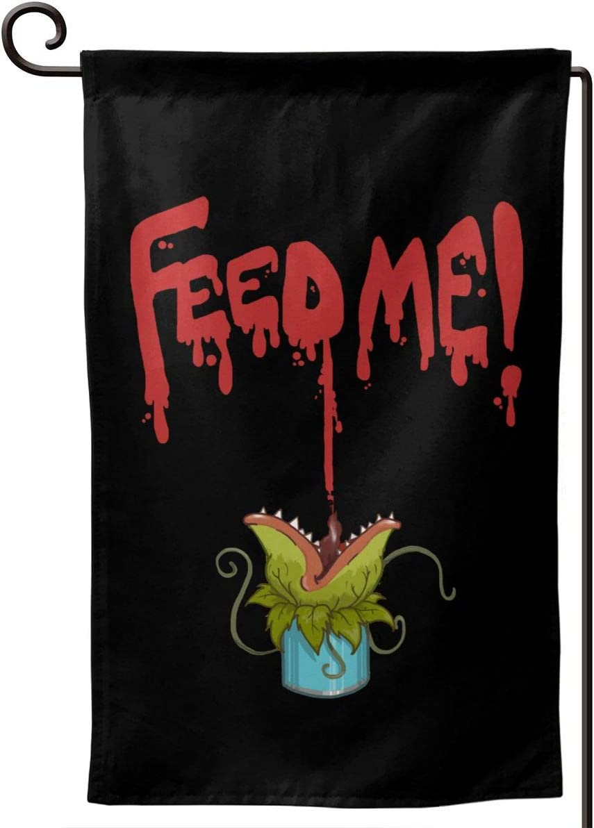 Little Shop of Horrors Feed Me Garden Flag 12.5x18in Family Decorative Outside Yard Decoration Flag