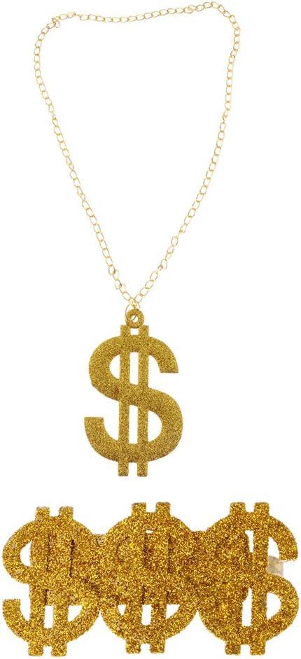 Gazechimp 1pc Anillo para Partido Grande 3 Símbolo de Dólar Estilo ...