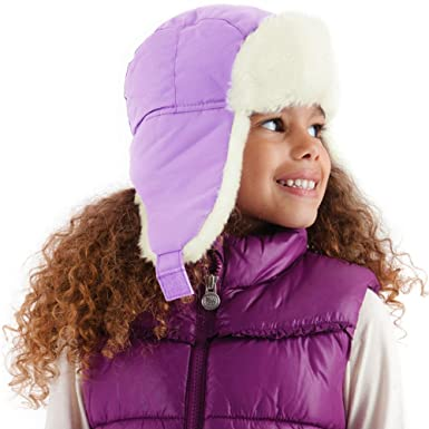 Girls Purple Trapper Hat + Fur Showerproof 1-3 GL076  Amazon.co.uk ... 125aeaccdc2