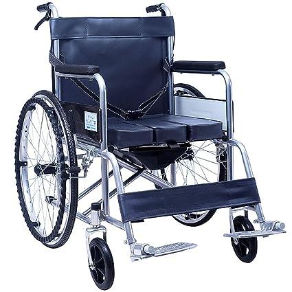 Silla de ruedas Transporte Ligero Plegable Sillas de Ruedas Silla de Viaje Portátil Aleación de Aluminio