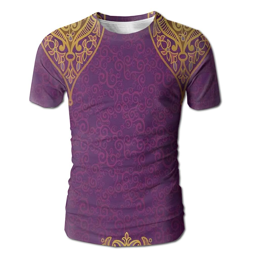 Edgar John Eastern Oriental Royal Palace Patterns with Bohemian Style Art Traditional Wedding Men's Short Sleeve Tshirt M