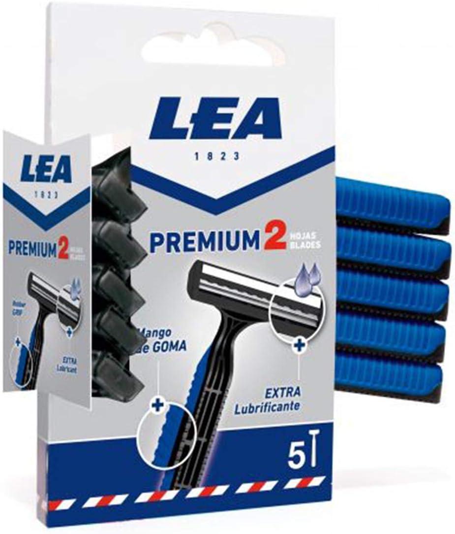 Lea Premium 2 Hojas Cuchillas Desechables 300 gr, 1 paquete de 5 piezas
