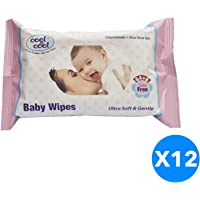Cool & Cool Baby Wipes 72's 6+6 Free Jumbo Pack
