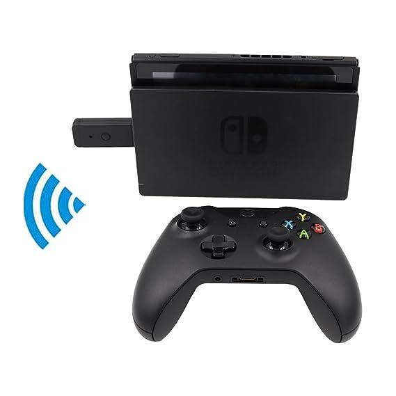Hikfly Controlador inalámbrico Bluetooth y adaptador de convertidor con cable USB Adaptador para Nintendo Switch / PS3 / PC Dinput / PC Xinput: Amazon.es: ...