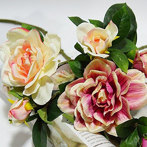 XKSIKjians-Artificial-Plants-1Pc-3-Heads-Fashion-Artificial-Gardenia-Decor-Flowers-Fakeflowers-Bouquet-Wedding-Party-Home-Decoration-Red