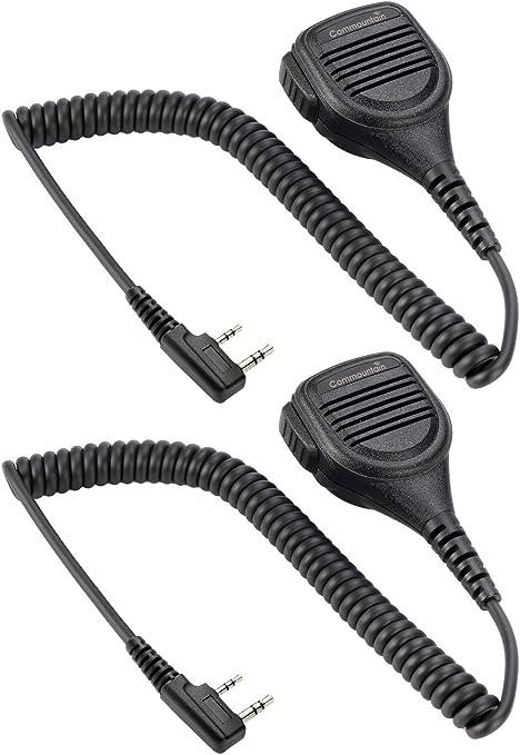 Radio Mic Remote Earpiece Handheld Shoulder Speaker Microphone for ...