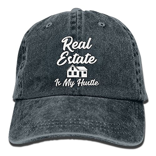 d62d7f5c444 NEW FACUP Real Estate Is My Hustle Funny Realtor Gift Unisex Washed Twill  Cotton Baseball Cap