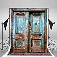 LB 5x7ft Vintage Door Muslin Photography Background Customized Photography Backdrop Studio Prop PJ110 (New Material)