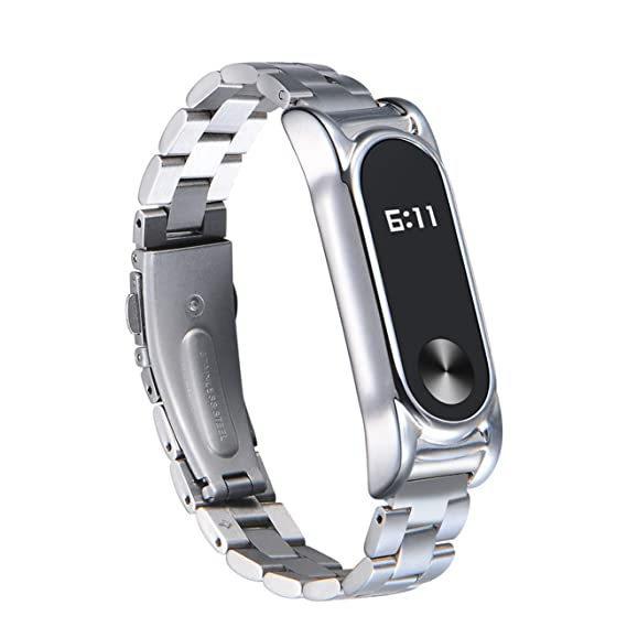 Hombre Mujer Reloj para Xiaomi Mi Band 2 Acero Inoxidable ...