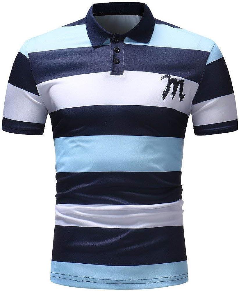 Camisa De Polo para Hombre Camisa De Polo Retro De Manga Corta De ...