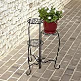 Garden 3 Tier Plant Flower Stand Metal Foldable Stand No Assembly
