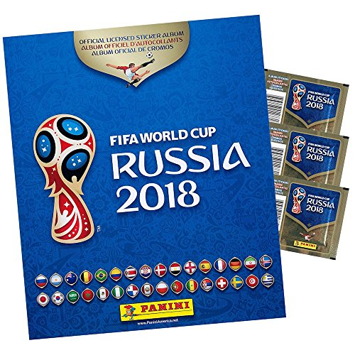 Panini 2018 FIFA WORLD CUP RUSSIA ALBUM (OFFICIAL SOFT COVER ALBUM AND 3 STICKER PACKETS INCLUDED) from Panini
