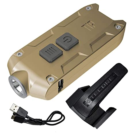 Nitecore TIP 2017 Upgrade 360 Lumen USB Rechargeable Keychain Flashlight & LumenTac USB Charging Cable (Gold, More color in Options) - - Amazon.com