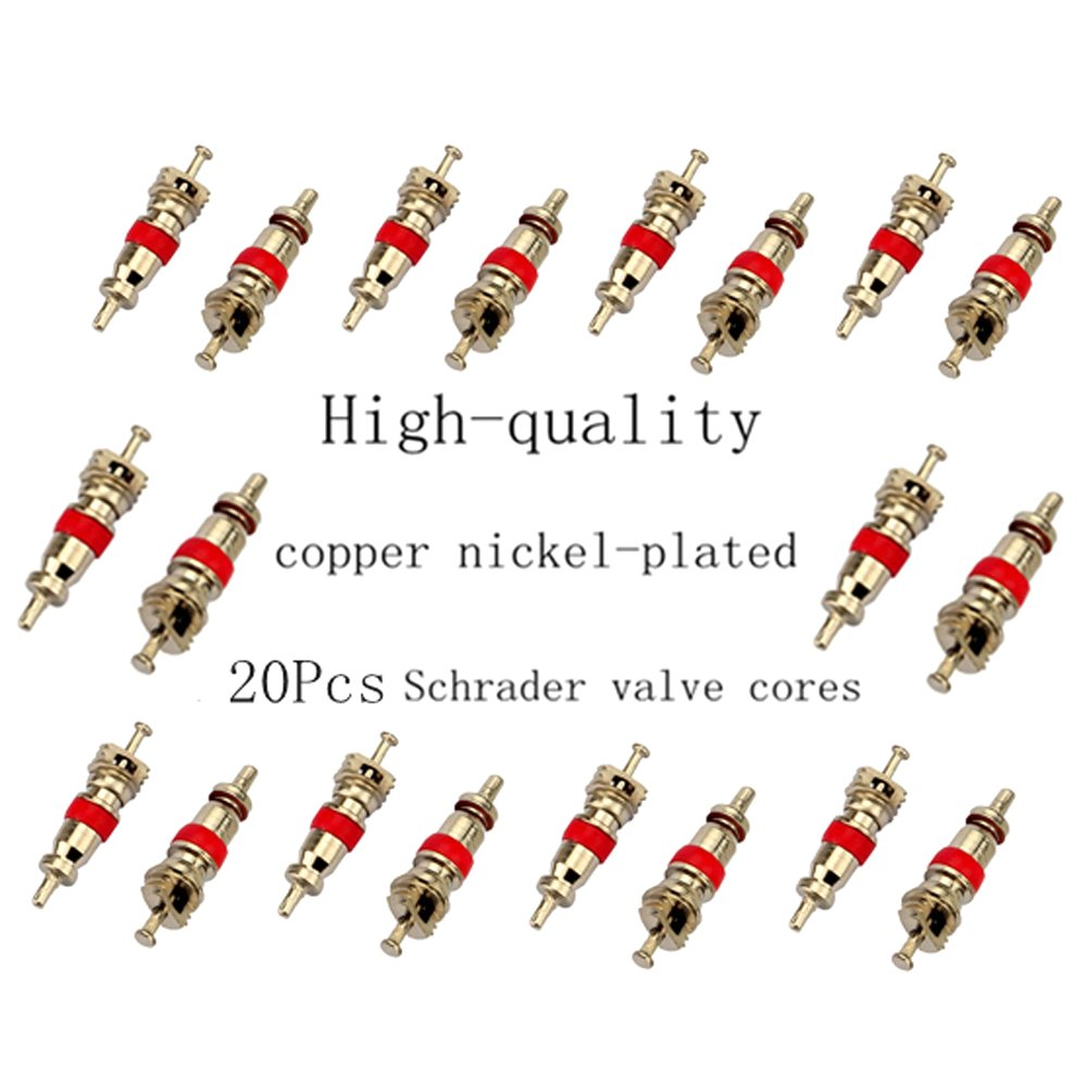 Z/&D Valve Core Remover with 20Pcs Schrader Valve Cores Dual Single Head Valve Core Remover Tire Repair Tool