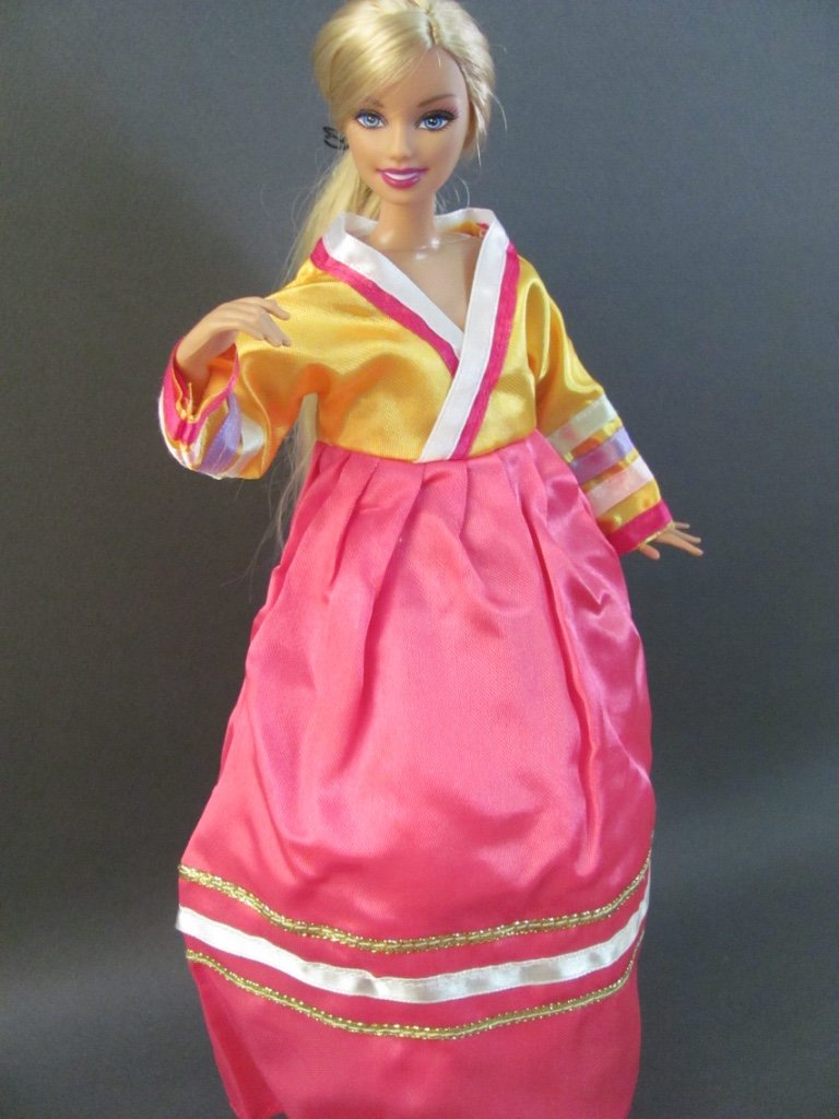 Amazon.com: Barbie Doll Clothes : Korean Hanbok Fit Barbie Dolls ...