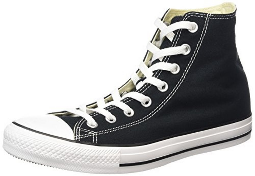 Converse All Star Hi Unisex Style Sneakers, Black, Men's 8 Women's 10