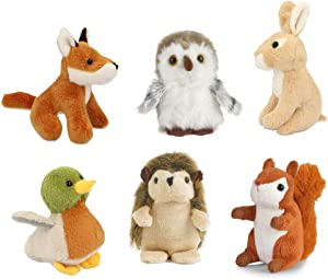 Living Nature AMZ05WL 6 Pack of Wildlife Buddies Soft Cuddly Toys, Various