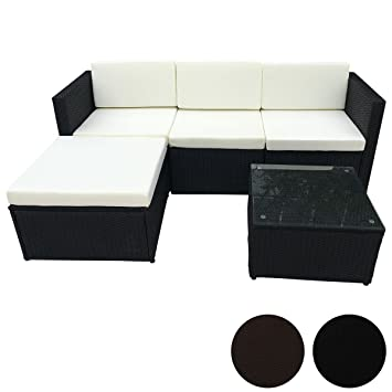 Amazonde Poly Rattan Sitzgruppe Essgruppe Set Cube Sofa Garnitur