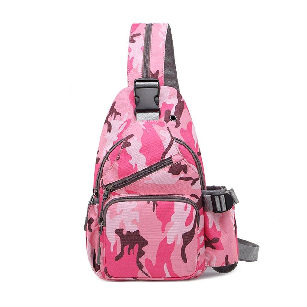 Multifunktions-Kasten-Satz-Freizeit-Oxford-Stoff-Schultasche im Freien Sport-Gürteltasche einzelne Schulter-Tasche (Farbe : Camouflage, Größe : 19  7  30CM)