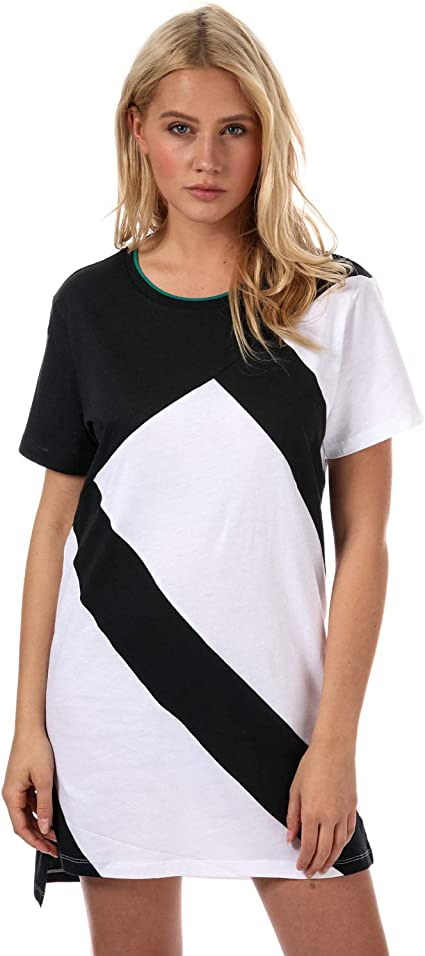 adidas EQT Tee Dress Shirt, Damen XS Schwarz (Weiß