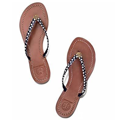 cfd80e17f60 Image Unavailable. Image not available for. Color  Tory Burch Terra Thong  Flip Flops Leather Thong Sandals ...