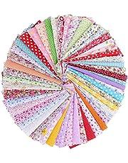 100st katoen op maat gesneden, quilten stof bundel pleinen patchwork diy naaien scrapbooking-10cm x 10cm/3,9 x 3,9 inch
