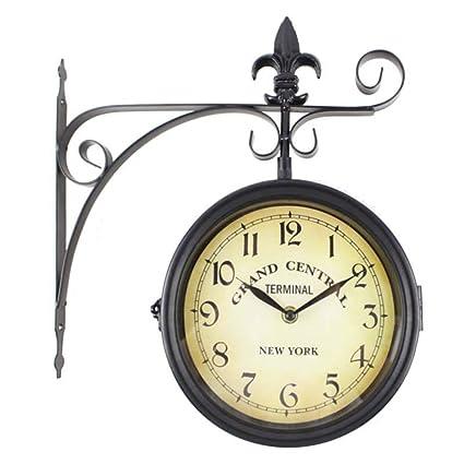 RD Reloj de Pared Grand Central Terminal New York Estacion Forja Negro