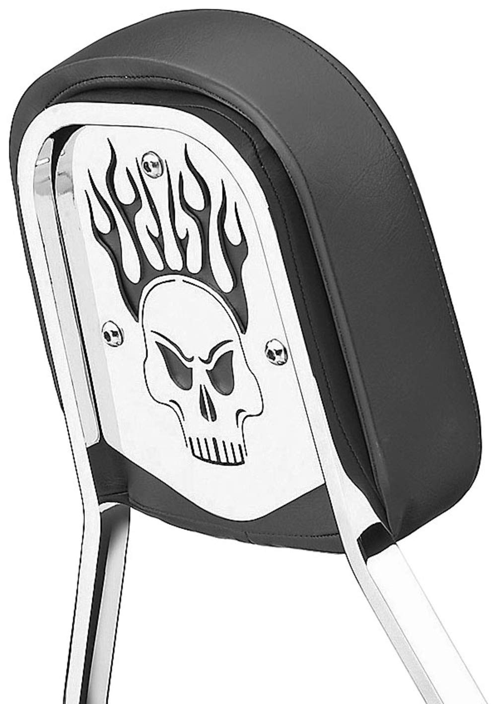 Cobra Chrome Backrest Insert For Tall Square Backrests Skull