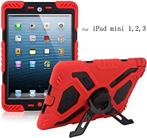 Y&M(TM) iPad Mini Case for Kids,Y&M Extreme Military Heavy Duty Waterproof Dust/Shock Proof iPad Mini Case with Kickstand for iPad Mini 1/2/3