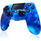 CHENGDAO Wireless Controller for PS4, Blue Galaxy Style Gaming Controller Compatible with Playstation 4 /Pro/Slim/PC with Hig