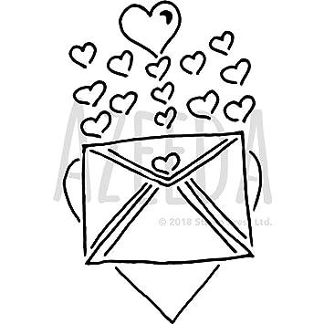 Grande A2 Carta de Amor Plantilla de Pared / Estarcir ...