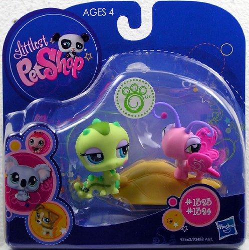 Littlest Pet Shop Collectibles - Littlest Pet Shop 2010 Assortment 'B' Series 1 Collectible Figure Inchworm & Butterfly