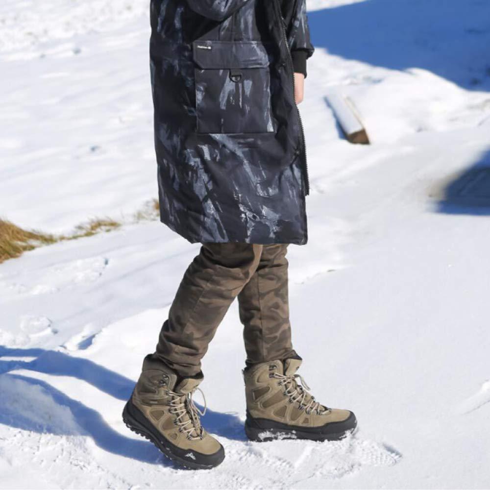 LIJUN Winter Schneestiefel Warm Gemütlich Pelz Rutschfeste Gefüttert Tactical Stiefel Rutschfeste Pelz Arbeit Hi-Top Wandern Schuhe Größe  38-45 a8100a