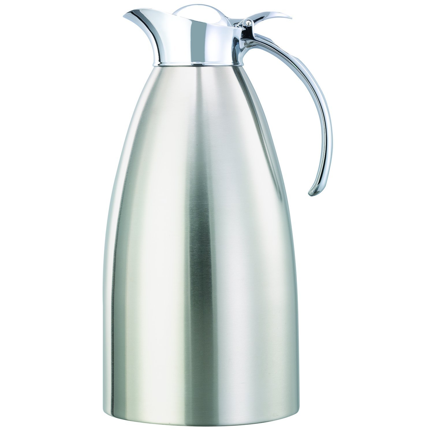 Service Ideas 982C20BS Carafe, Stainless Steel Lined, Brushed Exterior, 2 L