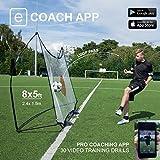 QUICKPLAY Kickster combinación portería de fútbol Ultra portátil 2.4 x 1.5m|Configuración de 2 Minutos | Perfecto para Entrenamiento de fútbol y jardín