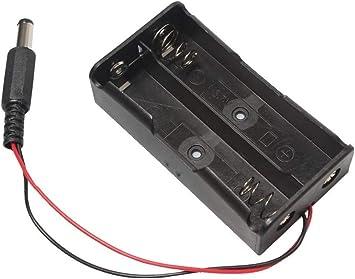 HAYATEC - Caja de Soporte para batería 18650 con Interruptor de Encendido/Apagado de CC, 2 x 18650 de Litio 1 Box NO Switch: Amazon.es: Electrónica