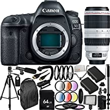 Canon EOS 5D Mark IV DSLR Camera with EF 100-400mm f/4.5-5.6L IS II USM Lens (International Version, No Warranty) 30PC Accessory Bundle - Includes 64GB Memory Card + 2 Replacement LP-E6 Batteries + MORE