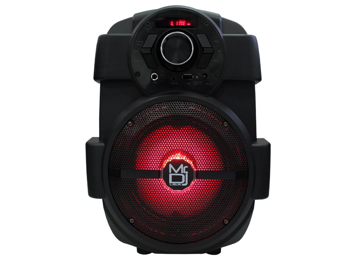 Mr. Dj PSE65BT 6.5'' Portable Active Speaker with Rechargeable Battery 1000W P.M.P.O, 1'' by Mr. Dj (Image #2)