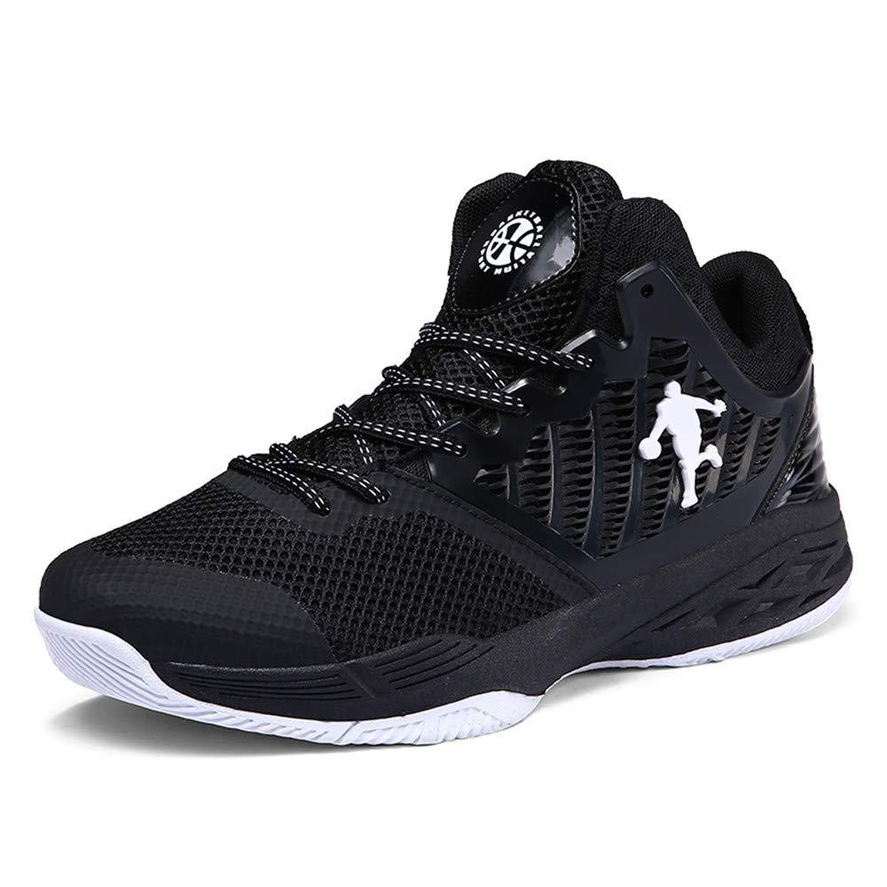 Willsky Chaussures de Basket-Ball pour Hommes, Baskets de Basket-Ball Chaussures de Sport Respirantes et à Absorption de Chocs légère,Purple,40