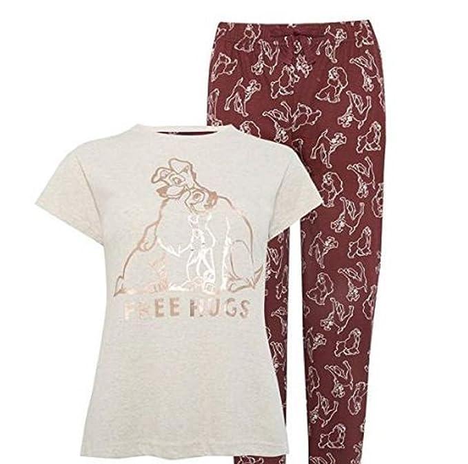 Primark LISCENSED Ladies Girls Womens Disney Lady and The Tramp Pyjama T Shirt Pajama PJ Set (UK M 10-12) (Sold by PENTA0601) at Amazon Womens Clothing ...