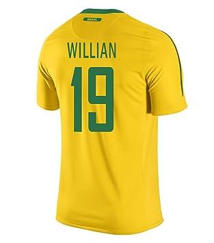 Nike William  19 Brasil Hombres Camiseta 1ra (Tamaño De Los EE.UU) (2XL)   Amazon.es  Deportes y aire libre 5c67a227fb97d