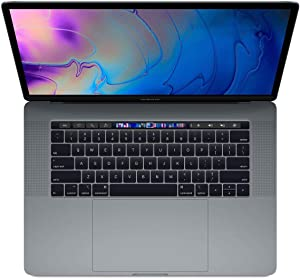 "Apple 15"" MacBook Pro with Touch Bar, Intel Core i7 2.6GHz, Pro 555X, 16GB RAM, 512GB SSD, Space Gray (Mid 2019)"