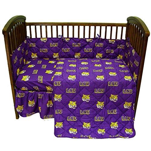 - College Covers Louisiana State Tigers 5 Piece Baby Crib Set (Renewed)
