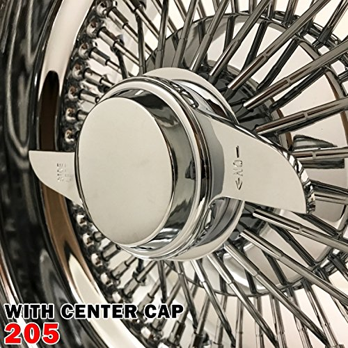 1PCS 13x7 Rev 72 Spokes Chrome Reverse Wire Wheels Straight Lace Deep Dish Rims (205)
