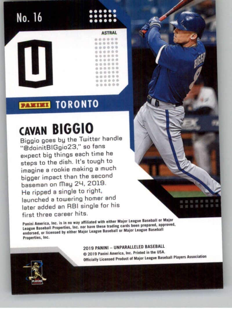 2019 Topps 52-Card #8-Red Ball Cavan Biggio Rookie Baseball Card