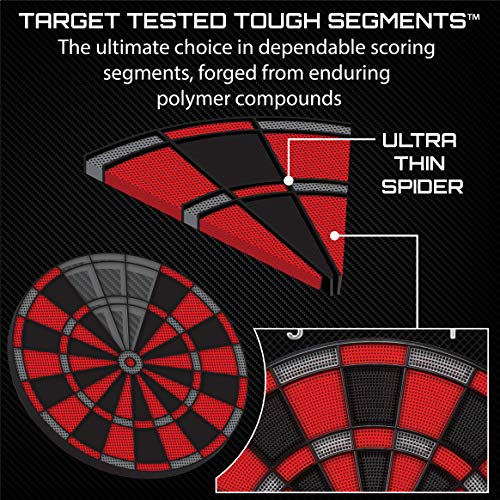 Viper Specter Electronic Dartboard, Double Tall LCD Cricket Scoreboard, Bilingual Voice Scoring, Built In Storage, Ultra Thin Spider For Increased Scoring Area, Powered By An AC Adapter Or Batteries