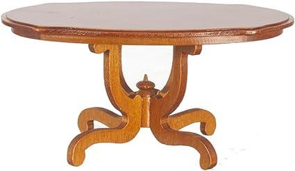 Unfinished Wood Pine Round Kitchen Table Dollhouse Kitchen Miniatures